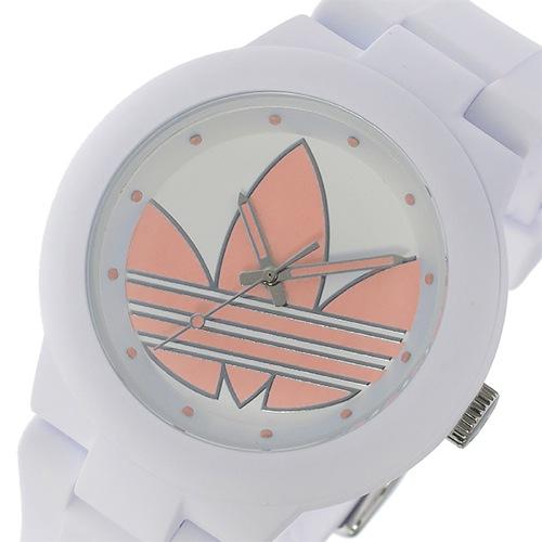 アディダス アバディーン クオーツ ユニセックス 腕時計 ADH3143 ホワイト/パステルピンク