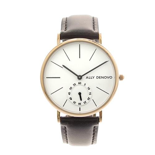 アリーデノヴォ ALLY DENOVO 腕時計 レディース 36mm AF5001-6 HERITAGE SMALL クォーツ ホワイト ダークブラウン></a><p class=blog_products_name