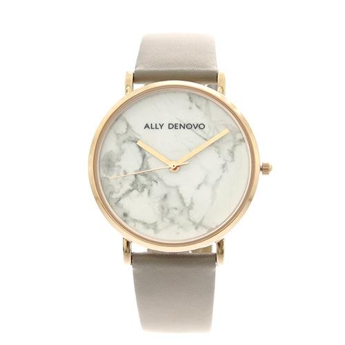 アリーデノヴォ ALLY DENOVO 腕時計 レディース 36mm AF5005-7 CARRARA MARBLE クォーツ ホワイト グレージュ></a><p class=blog_products_name