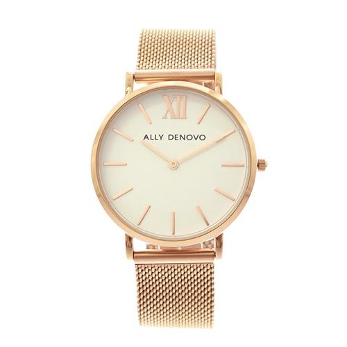 アリーデノヴォ ALLY DENOVO 腕時計 レディース 36mm AF5014-4 NEW VINTAGE MESH クォーツ ホワイト ローズゴールド></a><p class=blog_products_name