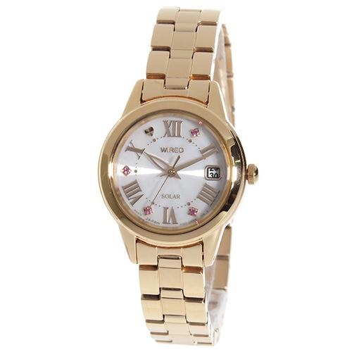 セイコー ワイアード F サマー限定 ソーラー レディース 腕時計 AGED709 国内正規