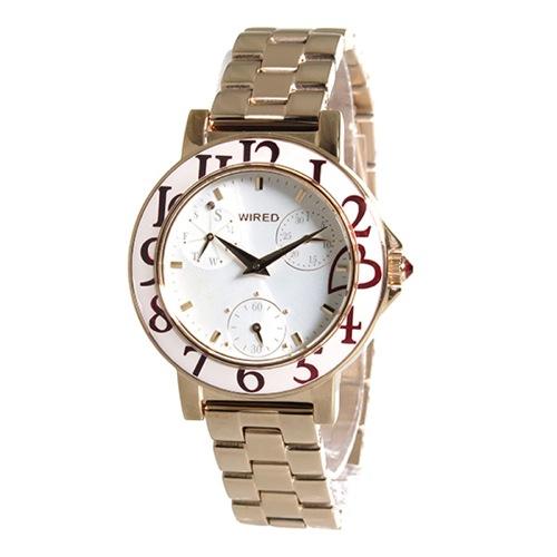 セイコー SEIKO ワイアード WIRED クオーツ レディース 腕時計 AGET711 ホワイト