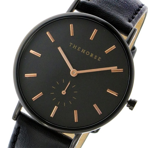 ザ ホース クラシック クオーツ ユニセックス 腕時計 AS01-B4 ブラック/ブラック></a><p class=blog_products_name