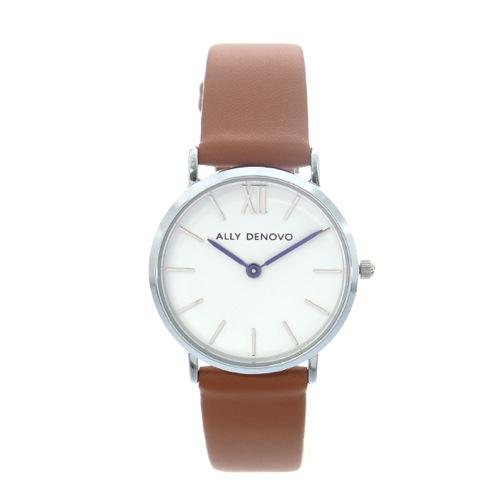 アリーデノヴォ ALLY DENOVO 腕時計 レディース 30mm AS5001-9 MINI NEW VINTAGE クォーツ ホワイト キャメル></a><p class=blog_products_name