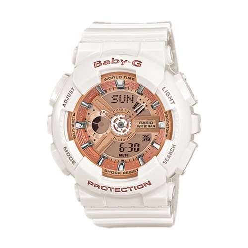 カシオ CASIO ベビーG Baby-G デジタル レディース 腕時計 BA-110-7A1 ホワイト