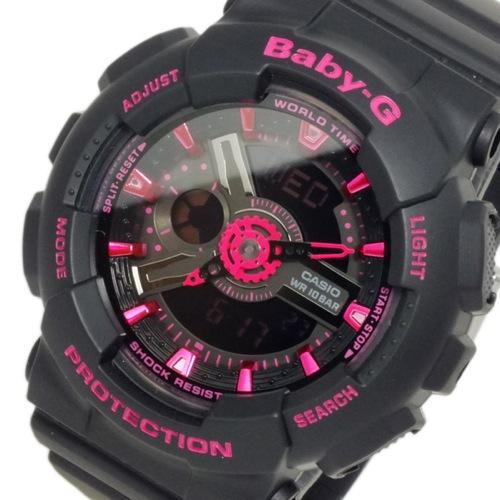 カシオ CASIO ベビーG BABY-G アナデジ レディース 腕時計 BA-111-1A ブラック