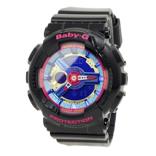 カシオ CASIO ベビーG BABY-G アナデジ レディース 腕時計 BA-112-1A ブラック