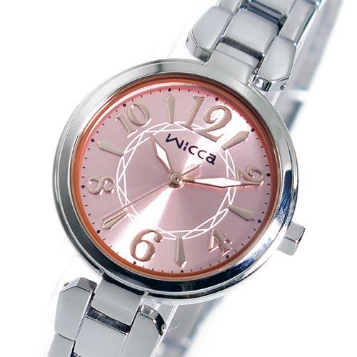 シチズン ウィッカ クオーツ レディース 腕時計 BG3-813-91 ピンク