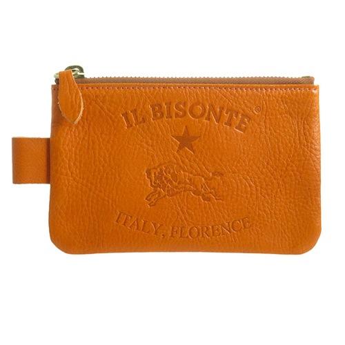 イルビゾンテ IL BISONTE ユニセックス ポーチ C0942P166 オレンジ