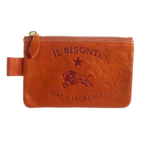 イルビゾンテ IL BISONTE ユニセックス ポーチ C0942PO730 レッドブラウン