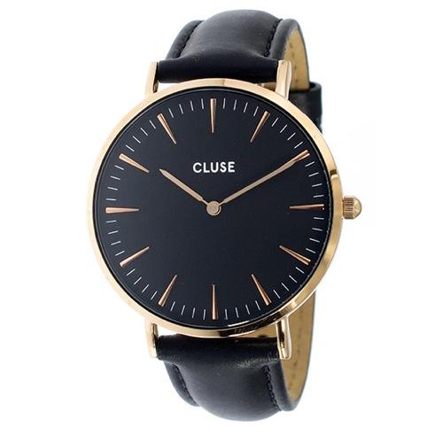 クルース ラ・ボエーム レザーベルト 38mm レディース 腕時計 CL18001 ブラック/ブラック