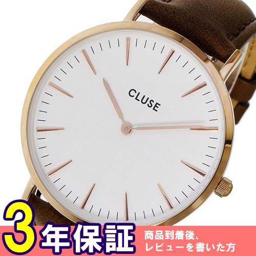 クルース ラ・ボエーム レザーベルト 38mm レディース 腕時計 CL18010 ホワイト/ブラウン