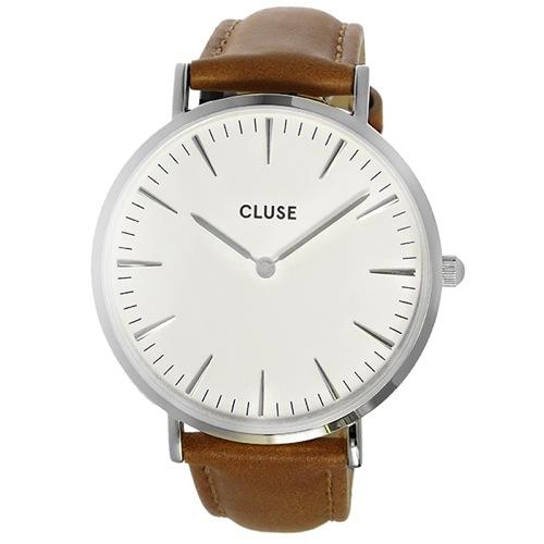 クルース ラ・ボエーム レザーベルト 38mm レディース 腕時計 CL18211 ホワイト/ブラウン