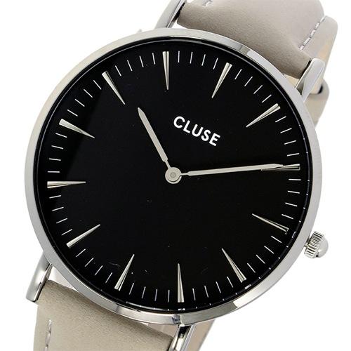 クルース CLUSE ラ・ボエーム レザーベルト 38mm レディース 腕時計 CL18218 ブラック/グレー