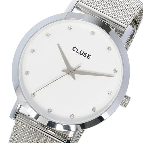 クルース CLUSE ラ・ボエーム メッシュベルト 38mm レディース 腕時計 CL18301 ホワイト/シルバー 価格 8,462円