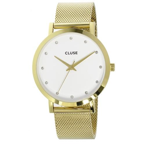 クルース ラ・ボエーム メッシュベルト 38mm レディース 腕時計 CL18302 ホワイト/ゴールド
