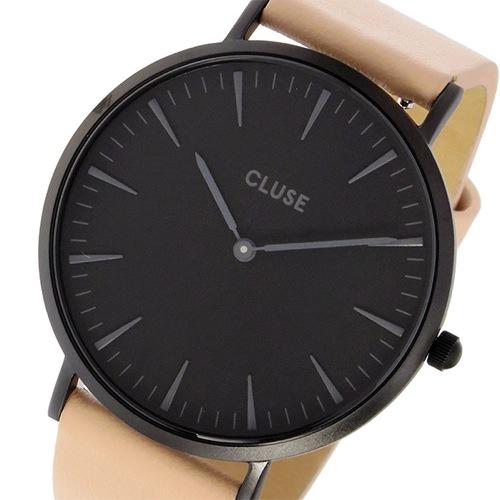 クルース CLUSE ラ・ボエーム レザーベルト 38mm レディース 腕時計 CL18503 ブラック/ベージュ