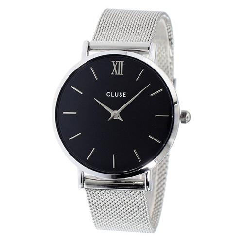 クルース ミニュイ メッシュベルト 33mm レディース 腕時計 CL30015 ブラック/シルバー