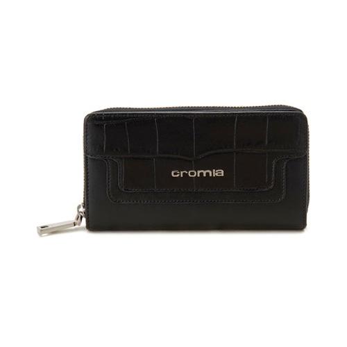 クロミア Cromia レディース 長財布 クロコ型押し CRM2630414SP-NE ブラック