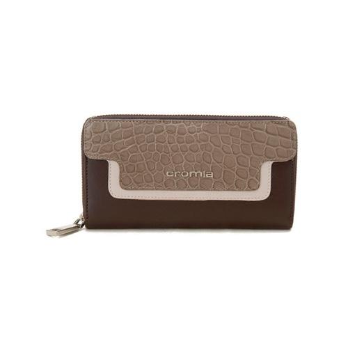 クロミア Cromia レディース 長財布 クロコ型押し CRM2640415SP-TP グレー