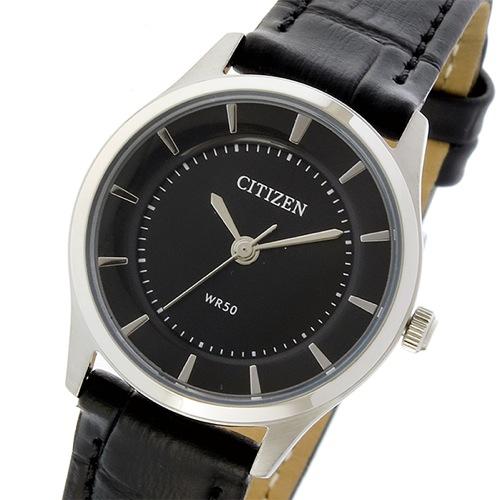 シチズン クオーツ レディース 腕時計 ER0207-09E ブラック