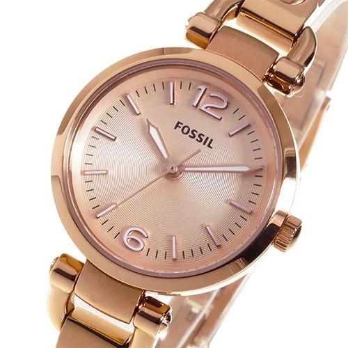 フォッシル FOSSIL ジョージア クオーツ レディース 腕時計 ES3268 ピンクゴールド