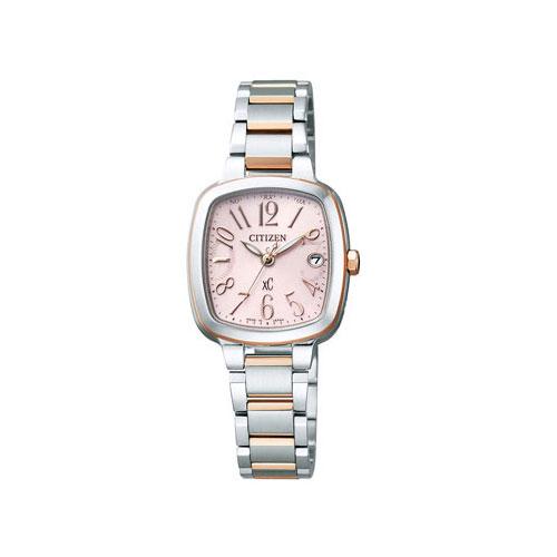 シチズン CITIZEN クロスシー エコ ドライブ 電波時計 レディース 腕時計 ES8014-54W 国内正規