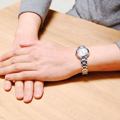 シチズン CITIZEN クロスシー エコ ドライブ 電波時計 レディース 腕時計 ES8030-58A 国内正規