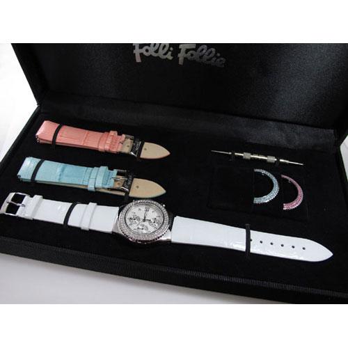 フォリフォリ FOLLI FOLLIE ベゼル&ベルトセット 腕時計 F212CHR