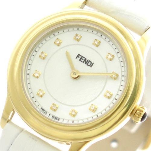 フェンディ FENDI 腕時計 レディース F250424541D1 クラシコラウンド クォーツ ホワイトパール ホワイト></a><p class=blog_products_name