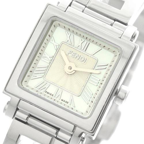 フェンディ FENDI 腕時計 レディース F605024500 クアドロミニ QUADOROMINI クォーツ ホワイトパール シルバー></a><p class=blog_products_name
