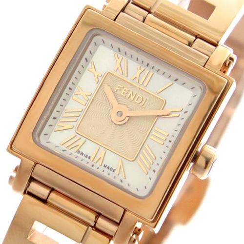フェンディ FENDI 腕時計 レディース F605524500 クアドロミニ QUADOROMINI クォーツ ホワイトパール ピンクゴールド></a><p class=blog_products_name