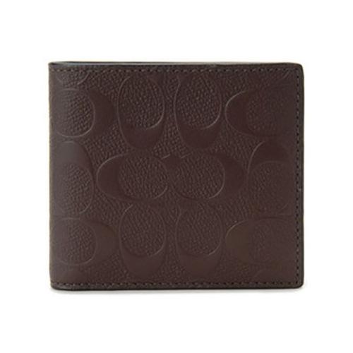 コーチ 二つ折り財布 短財布 シグネチャー クロスグレイン F75363 MAH マホガニー></a><p class=blog_products_name