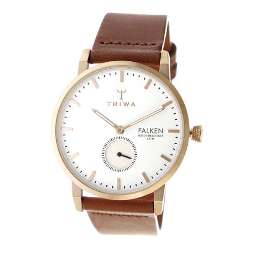 トリワ クオーツ ユニセックス 腕時計 FALKEN FAST101-CL010214 ホワイト / ブラウン></a><p class=blog_products_name