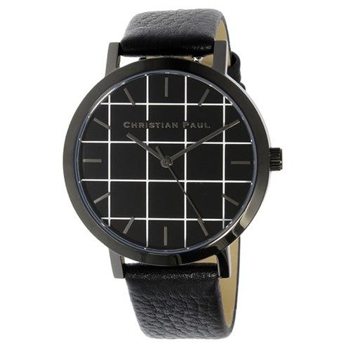 クリスチャンポール グリッド THE STRAND レディース 腕時計 GRL-01 ブラック