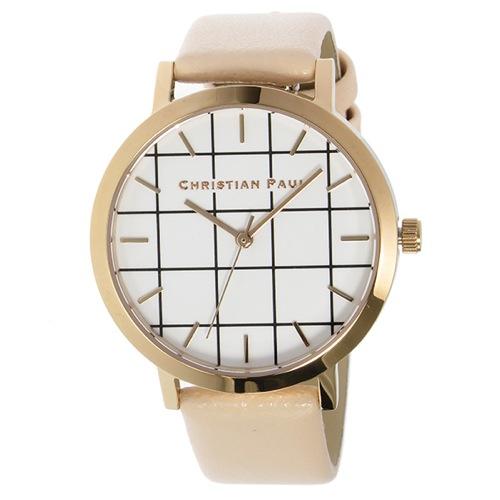 クリスチャンポール グリッド BONDI レディース 腕時計 GRL-02 ホワイト