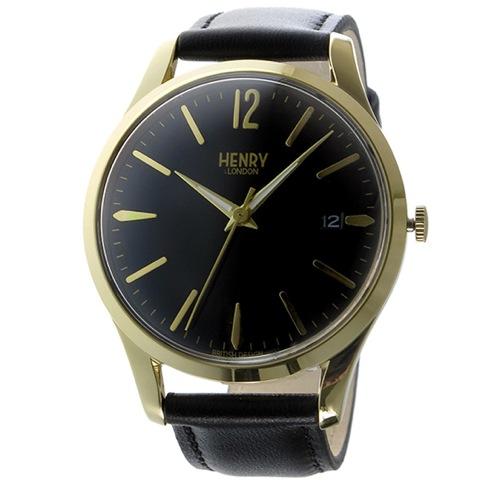ヘンリーロンドン ウェストミンスター 39mm ユニセックス 腕時計 HL39-S-0176 ブラック