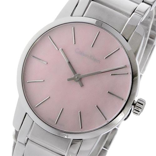 カルバン クライン シティ クオーツ レディース 腕時計 K2G231.4E ピンク></a><p class=blog_products_name