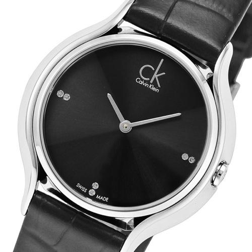 カルバン クライン スカート クオーツ レディース 腕時計 K2U231CS ブラック
