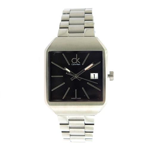 カルバンクライン クオーツ レディース 腕時計 K3L33161 ブラック/シルバー