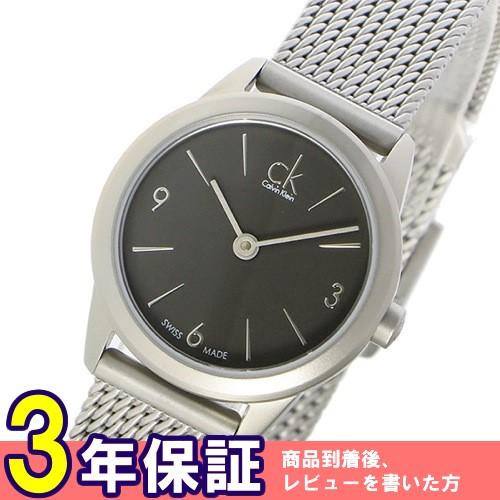 カルバンクライン ミニマル クオーツ レディース 腕時計 K3M53154 グレー