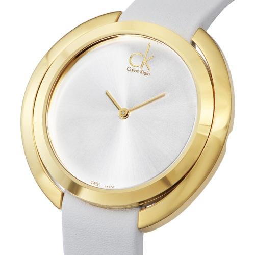 カルバン クライン アグレゲート クオーツ レディース 腕時計 K3U235L6 ホワイト