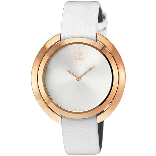 カルバン クライン Calvin Klein クオーツ レディース 腕時計 K3U236.L6 ホワイト