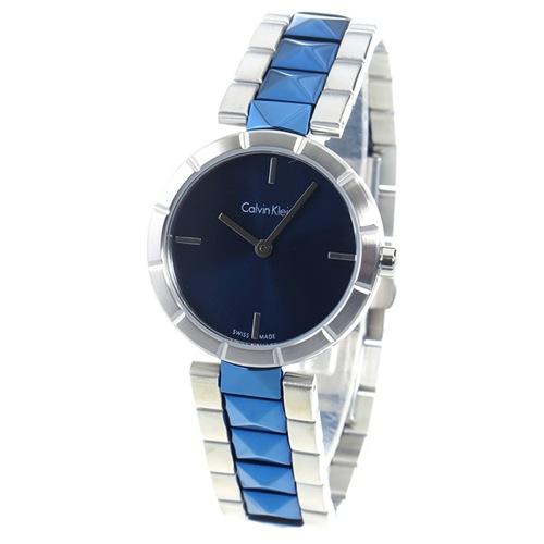 カルバン クライン CALVIN KLEIN クオーツ レディース 腕時計 K5T33T4N ブルー