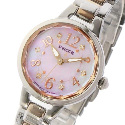 シチズン ウィッカ ソーラー レディース 腕時計 KH8-519-93 シェル