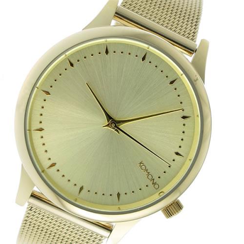コモノ クオーツ レディース 腕時計 KOM-W2861 ゴールド></a><p class=blog_products_name