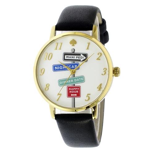ケイトスペード メトロ レディース 腕時計 KSW1128 ホワイト/ブラック
