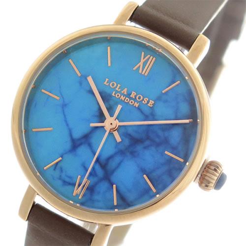 ローラローズ ブルーマグネイサイト クオーツ レディース 腕時計 LR2040 ブルー/ブラウン></a><p class=blog_products_name