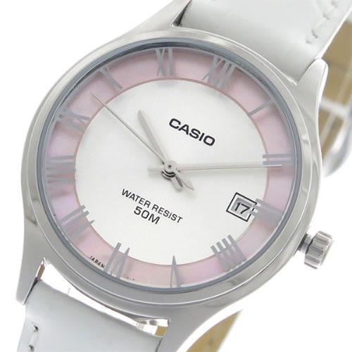 【希少逆輸入モデル】 カシオ クオーツ レディース 腕時計 LTP-E142L-7A1 シルバー/シェル/ホワイト></a><p class=blog_products_name