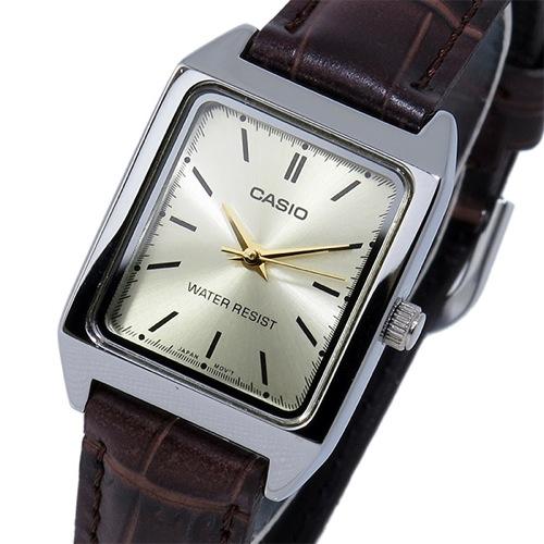 カシオ CASIO クオーツ レディース 腕時計 LTP-V007L-9E シャンパンゴールド